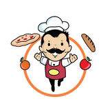 Cuoco unico felice Immagine Stock