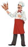 Cuoco unico felice - illustrazioni Fotografia Stock