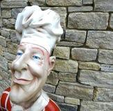 Cuoco unico felice Statuette Fotografia Stock