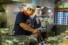 Cuoco unico giapponese di ramen Fotografia Stock Libera da Diritti