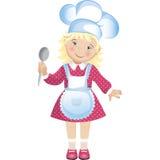 Cuoco unico Girl Immagine Stock