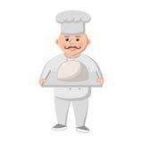 Cuoco unico grasso del fumetto Fotografie Stock Libere da Diritti