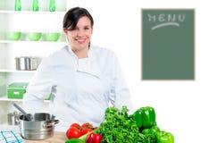 Cuoco unico grazioso Fotografia Stock