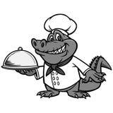 Cuoco unico Illustration di Cajun Immagini Stock Libere da Diritti
