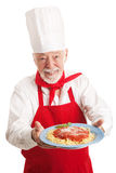 Cuoco unico italiano Isolated fotografie stock libere da diritti