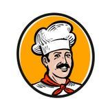 Cuoco unico, logo del cuoco Etichetta o icona per il ristorante o l'approvvigionamento del menu di progettazione Illustrazione di illustrazione di stock