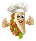 Cuoco unico Man di kebab Fotografie Stock