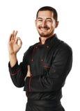 Cuoco unico maschio Fotografia Stock