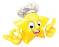 Cuoco unico Mascot della stella Immagini Stock