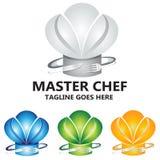 Cuoco unico matrice Culinary Food Concept Logo Vector Design fotografia stock