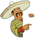 Cuoco unico messicano con un segno in bianco Fotografia Stock