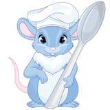 Cuoco unico Mouse del fumetto Immagini Stock Libere da Diritti