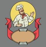 Cuoco unico nel retro stile Fotografie Stock Libere da Diritti