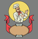 Cuoco unico nel retro stile Fotografia Stock