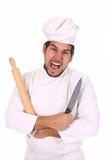 Cuoco unico pazzo fotografie stock