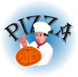 Cuoco unico Pizza Fotografia Stock Libera da Diritti