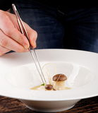 Cuoco unico pranzante fine Fotografia Stock