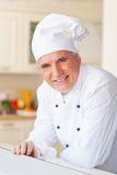 Cuoco unico sorridente Fotografia Stock