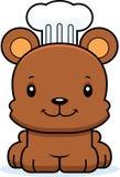 Cuoco unico sorridente Bear del fumetto Fotografie Stock