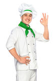 Cuoco unico sorridente del cuoco Immagini Stock