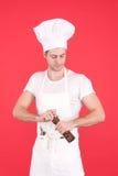 Giovane cuoco unico fotografia stock