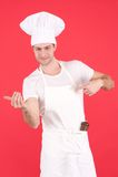 Giovane cuoco unico immagini stock