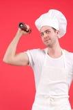 Giovane cuoco unico immagini stock libere da diritti