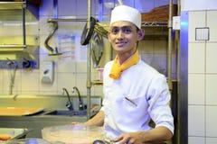 Cuoco unico sul lavoro immagine stock libera da diritti