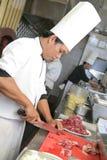 Cuoco unico sul lavoro Fotografia Stock