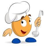 Cuoco unico sveglio astratto del cuoco del carattere del fumetto Fotografia Stock