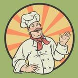 Cuoco unico in un retro stile Fotografia Stock Libera da Diritti