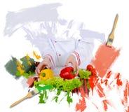 Cuoco unico in uniforme Immagine Stock Libera da Diritti