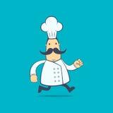 Cuoco unico in varie pose Fotografia Stock