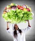 Cuoco unico vegetariano fotografie stock