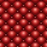 Cuoio abbottonato rosso Fotografia Stock