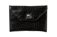 Cuoio, borsa posteriore dell'alligatore Fotografie Stock