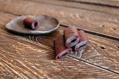 Cuoio della frutta Fotografie Stock