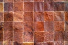 Cuoio della mucca con il modello Fotografia Stock Libera da Diritti