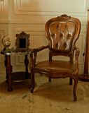 Cuoio di legno e di lusso Fotografia Stock Libera da Diritti