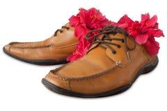 Cuoio di scarpa Fotografia Stock