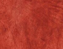 Cuoio genuino rosso Fotografia Stock