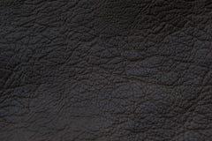 Cuoio grigio scuro di struttura Fotografie Stock Libere da Diritti