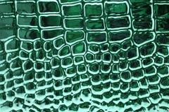 Cuoio metallico della pelle del coccodrillo Fotografie Stock Libere da Diritti