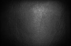 Cuoio nero per struttura Fotografie Stock Libere da Diritti