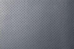 Cuoio reale perforato grigio Fotografia Stock Libera da Diritti