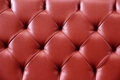 Cuoio rosso di struttura per fondo Ripeti il reticolo Immagine Stock