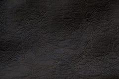 Cuoio sintetico grigio scuro di struttura Immagini Stock