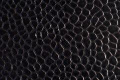 Cuoio strutturato del nero blu Fotografia Stock