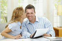 Cuople planning at home Stock Image