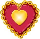 Cuore 3 del biglietto di S. Valentino illustrazione di stock